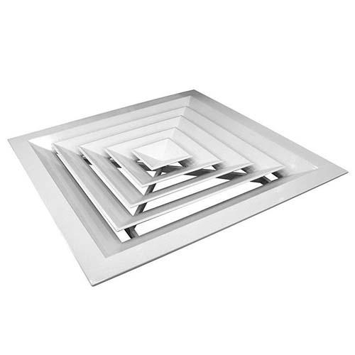 Алюминиевая потолочная решётка диффузорного типа 4VA 600x600