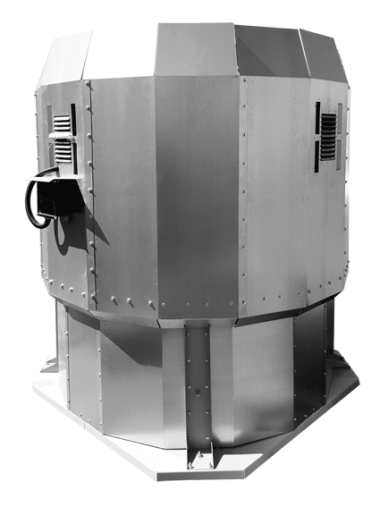Вентилятор крышный с факельным выбросом потока ВКРФм ДУ 4